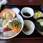 丸健水産 - (2010.12)海鮮丼セット