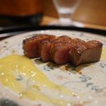 日本料理 太月 - 仙台牛ステーキにもろこし