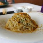 ラ ヴィオレッタ - 白子と飛騨しいたけ からすみスパゲティ