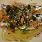 57495384 - 5400円ランチ・③秋刀魚のカルパッチョ                          赤ワインビネガー風味 ★3・8
