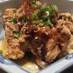 かがみの亭 - かがみの亭(岡山県岡山市中区雄町)油淋鶏サラダの油淋鶏単品〜特別注文