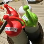かがみの亭 - かがみの亭(岡山県岡山市中区雄町)サラダのドレッシング