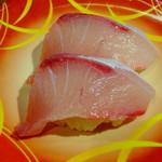 元祖廻る元禄寿司 - はまち135円(税込)