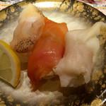 金沢まいもん寿司 - 貝三昧:680円