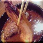 土鍋ハンバーグ 北斗星 - 厚切りベーコン