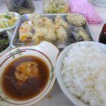 あつあつ揚立てっちゃん - かき天ぷら定食