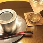 翠山亭倶楽部定山渓 - 夕食:食前酒とロワイヤル