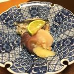 翠山亭倶楽部定山渓 - 夕食:秋刀魚と北寄の握り寿司