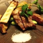 翠山亭倶楽部定山渓 - 夕食:和牛ステーキ