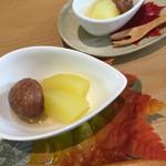 まめでたっしゃ - 栗の渋皮煮とリンゴのコンポート