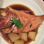 伊東遊季亭 ダイニング  - 金目鯛の煮つけ、こちらは宿泊のプランとしての一品