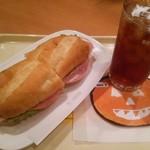ドトールコーヒーショップ - 料理写真:ミラノサンドセット(\610)