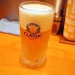麺屋 すずらん - 生ビールはサッポロクラシック
