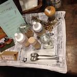 アルベロ カフェ - ソフトクリームのトッピングコーナー