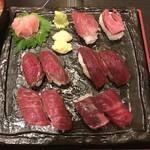 個室居酒屋 馬に魚に  - 桜肉の握りずし