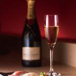 寿司 さ々木 - ≪料理長おすすめ≫ワインコース
