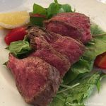 57524135 - 広島の和牛ステーキ(130g)プラスPaccioA(自家製パン・紅茶)(1296円税込)16.7月