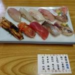 寿し甚 - 地魚寿し 2,400円♪