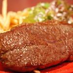 肉ビストロ&クラフトビール ランプラント - ランチ限定!ブラックアンガス牛のステーキ&ポテトフライ