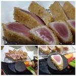 魚助食堂 - ◆40秒程度で揚げる「カツ」はレア感が残り、見た目もキレイ・・ 赤身で、マグロ自体のお味は淡白ですね。