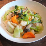 中華料理 頤和園 - 海老とお野菜の塩焼きそば