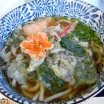 見山の郷 - 山菜天ぷらうどん