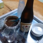 沢の園 - ビールは赤星