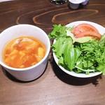 イタリアン&肉バル 北の国バル - スープ・サラダ