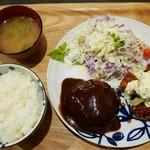 レストラン アサヒ - ミックスC(ハンバーグ&チキン南蛮)1300円