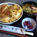 角清 - カツ丼 ミニうどん付き 980円