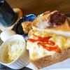 オレンジガーデン - 料理写真:エッグトーストと小倉トーストセット
