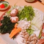 静流荘 - 野菜一式(^^)