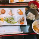 ホテルエリアワン宮崎 - 冷や汁と鳥炊き込みごはん両方です^^;