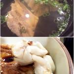 量平寿司 - あら汁とゲソ