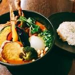 57599785 - 『チキンと一日分野菜20品目+6辛ー御飯S』様(1450円+100円ー30円)