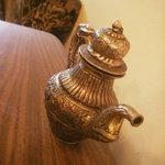 ザリガニカフェ - テーブルの上の置物