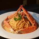 居酒屋てのひら - 渡り蟹のトマトクリームスパゲッティ