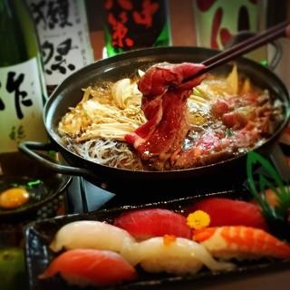 すき焼き・お寿司コース