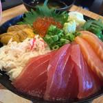浜焼きしんちゃん - ご飯は酢飯が白飯でセレクト可能
