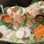 北海道料理ユック - お刺身盛り合わせ
