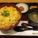 鶏三和 - スープ、梅、プリン付