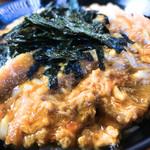 お食事処 丸徳 - 海苔のトッピングで50円増しのカツ丼