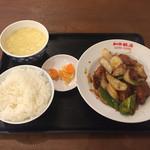 和平飯店 - 鳥肉のミソ炒め(600円)※通常780円【平成28年10月18日撮影】