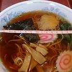 57614204 - ラーメン550円(麺固め)丼の直径20cm位
