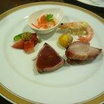 八仙楼 - 料理写真:季節の前菜5種盛り