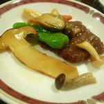 八仙楼 - 牛ロースと松茸 炒め