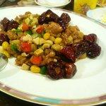 八仙楼 - 若鶏と銀杏のピリ辛炒め