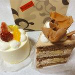 Rouge et Piquant - ショコラバナーヌ400円、バニラのムース400円