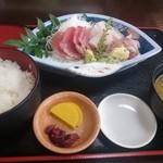とん亭 - 2016年9月 刺身漁師盛り定食 1480円+税