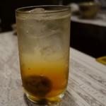 明日香 - (2016/9月)梅酒は大きな梅が入っていて美味しかった